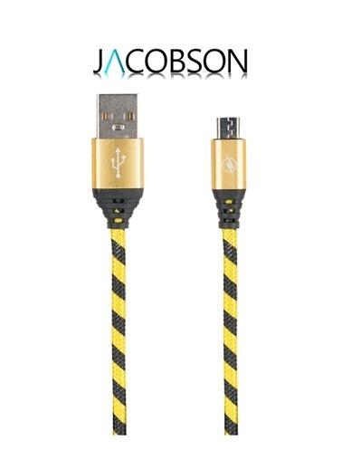 J1 Örgü Desenli Micro USB Şarj ve Data Kablosu-Jacobson